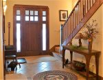 the beautiful vaulted ceiling entry way