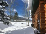 Hot tubbin` with Red Lodge Mountain views at Two Willow Cabin
