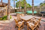 2 backyard dining areas, gas grill built-in, optional paddleboard