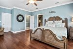 Large spacious king BR on 3rd fl with additional pullout chaise