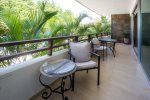The long terrace has partial ocean views and great breezes.