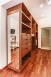 The master bedroom closet.