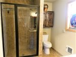 Spacious custom tile shower