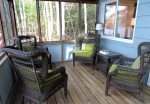 Four season porch with furniture