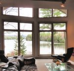 Beautiful lake views from the living room sectional