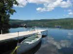 Your own private waterfront with dock, swim raft, and boats to use.