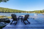 Long dock perfect for boating, swimming, or lounging in the sun