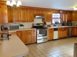 Spacious kitchen with newer appliances