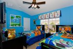 Kids will love Toy Story-themed bedroom 3 with a PS2