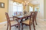 Formal dining area with seating for 6 people