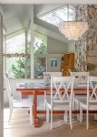 The light and airy dining room