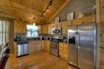 Beautiful open kitchen with stainless steel appliances