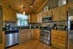 Kitchen with all updated stainless steel appliances