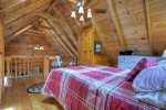 Vaulted ceilings n loft bedroom