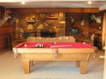 Downstairs Living Room with Pool Table