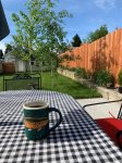 Outdoor Seating with Morning Coffee