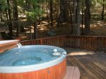Relax in the Private Hot Tub after a great day in the mountains.