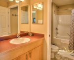 bathroom 1, with shower and bathtub