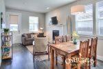 open concept dining, living and kitchen