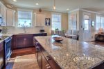 great kitchen island with seating for 3