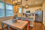 cozy dining and kitchen areas