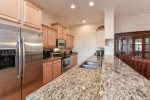 Well appointed kitchen with granite counters
