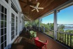 Enjoy Water Views From the Screened Porches