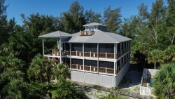 Spectacular Pineapple House on Little Gasparilla Island