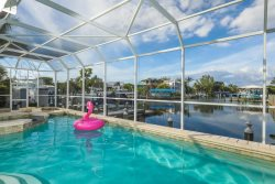Coral Cove - A chic waterfront pool home located in the village of Boca Grande