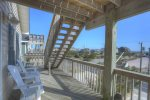 Escape the Heat of the Sun on the Top Level Covered Deck with Ocean Views