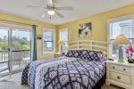 Middle Level Master Bedroom with King Bed and Private Deck