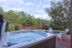 Feel your Stress Melt Away in the Bubbly Hot Tub