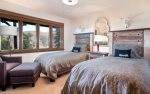 6th bedroom with two twin beds, hall bath