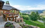 Expansive deck and views are attached to this stunning Beaver Creek home.