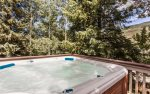 Private outdoor hot tub year-round