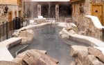 Willows outdoor hot tub area.