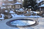 Hot tubs open year-round down Fairway Drive