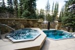 Vail Athletic Club outdoor hot tub area.