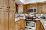 Kitchen from one of the 3 bed 3 bath condos at Montaneros