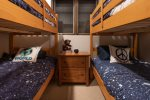 4th Bedroom with Two Sets of Twin Bunk Beds