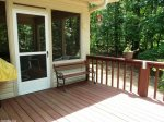 Rear open deck also has an enclosed screened-in porch