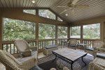 Enclosed porch on golf course side