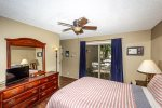 Queen master bedroom with HDTV
