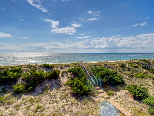 Oceanfront beach access on Hatteras Island