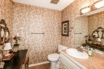 This home features a Jack and Jill style bathroom