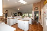 Kitchen open to living and dining rooms