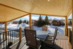 Upper Covered Deck with Great Views of Mountains and River