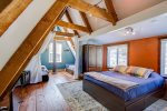 LARGE LOFT AREA WITH QUEEN BED AND 2 TWINS