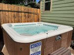 Come relax in the private hot tub