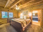 The upstairs Fishing Room features a queen bed, twin bed and a 24` smart TV.